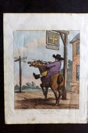 Henry Bunbury 1812 HCol Horse Satire Print. A Horse with a Nose